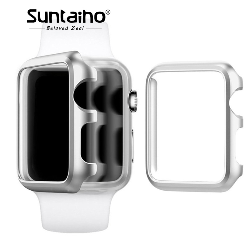 Suntaiho for i Watch series 3 2 1 PC protective frame Case cover for Apple Watch Case 42 38 mm protective Case screen protector