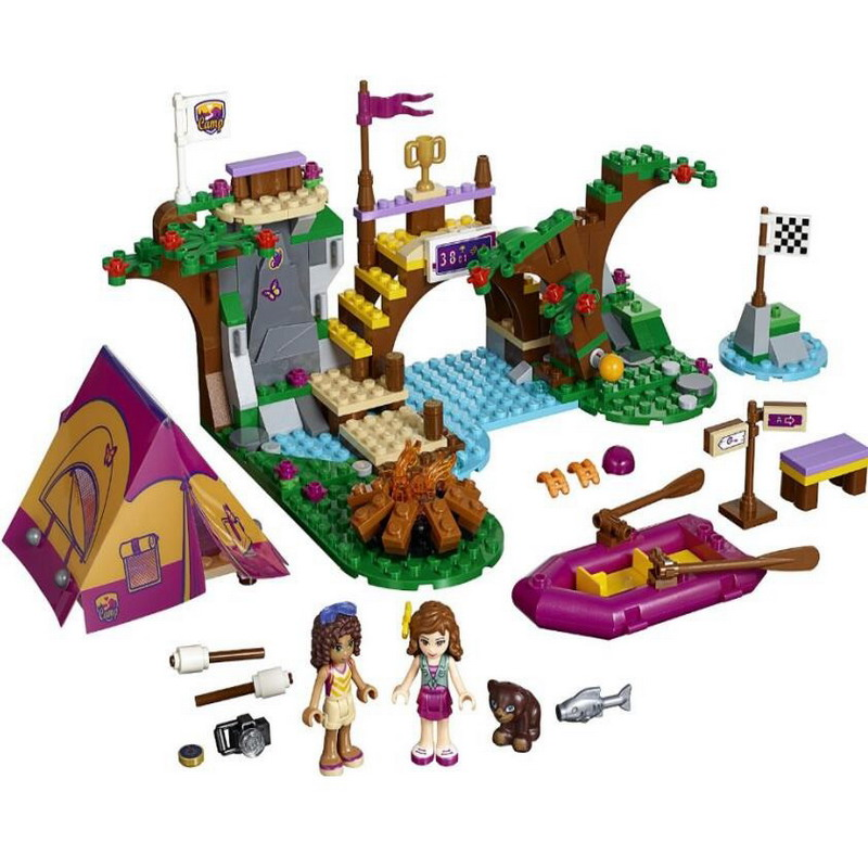 BELA 10493 Girl Friends Adventure Camp Rafting Figure Blocks Construction Building Bricks Toys For Children Compatible Legoe