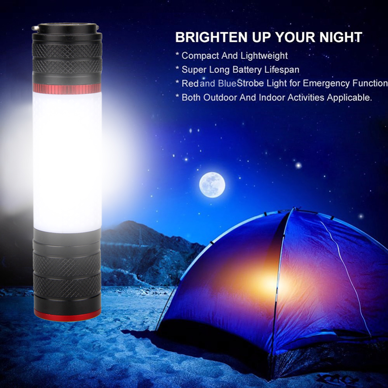 T6 LED Camping Lantern With Magnet Tent Light Outdoor Emergency Power Light 6 Modes Flashlight For 18650/AAA