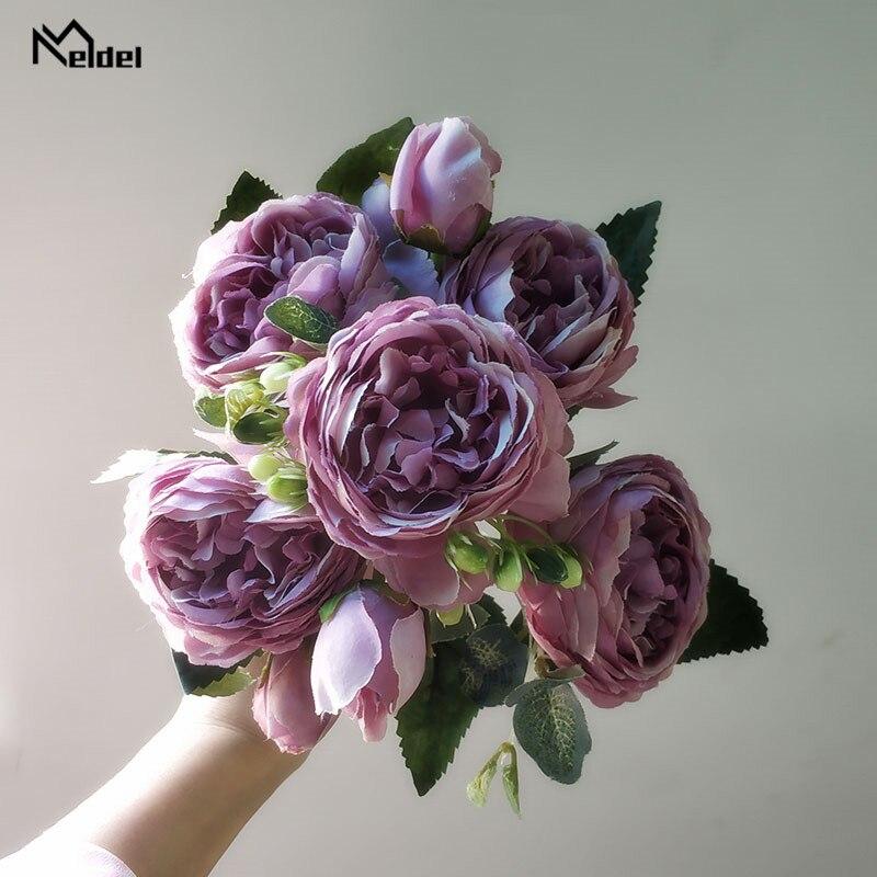 artificial flowers silk peonies bouquet  9