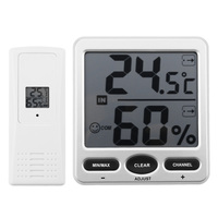 LCD Digital WS 07 X1 Wireless 8 Channel Indoor/Outdoor Thermo Hygrometer + Remote Sensors Thermometer Hygrometer