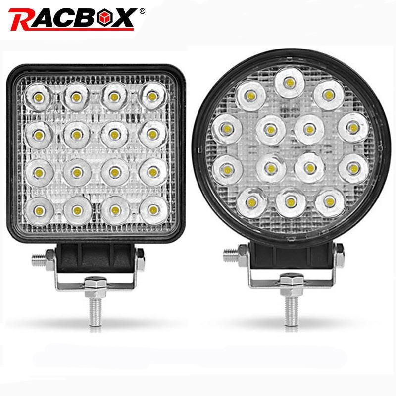 42 w 48 w 4 pouce LED Light Work Offroad Voiture 4WD Camion Tracteur Bateau Remorque 4x4 ATV SUV 12 24 v Spot Flood 4.2 ''LED de Conduire La Lumière