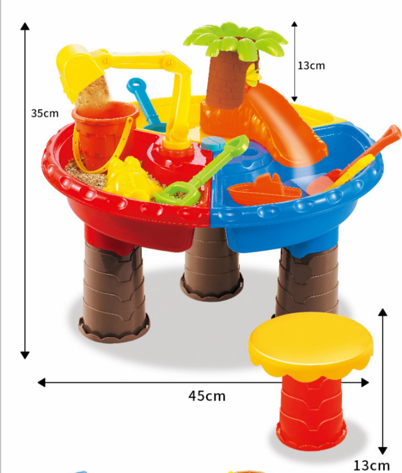 22pcs Children Sand Table Toy Summer Sand Water Play Toys Suit Color Random Large Baby Water And Sand Dredging Tool Kids Gift