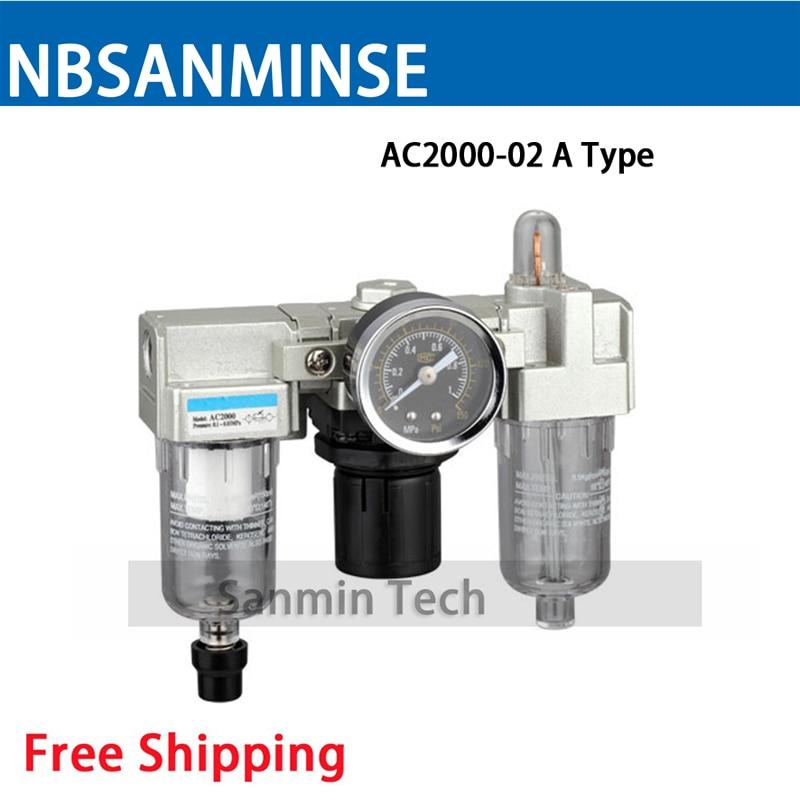все цены на Air Preparation Units 1/8 1/4 3/8 1/2 3/4 1 AC2000 Three Units Air Source Units SMC Type FRL Units Air Compressor Parts Sanmin онлайн