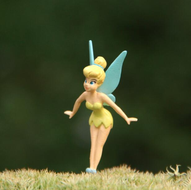 Tinker Bell Toys Figures Collection Fairy Toy-Dolls Art Resin DIY Cute 1pcs/Set