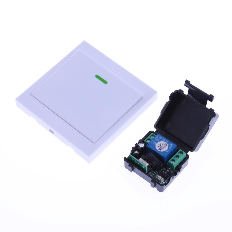 DC12V 1 Channel Wireless Remote Control Relay Remote Module RC Switch Wall Switch Remote Control 20-40m dc 12v led display digital delay timer control switch module plc automation new