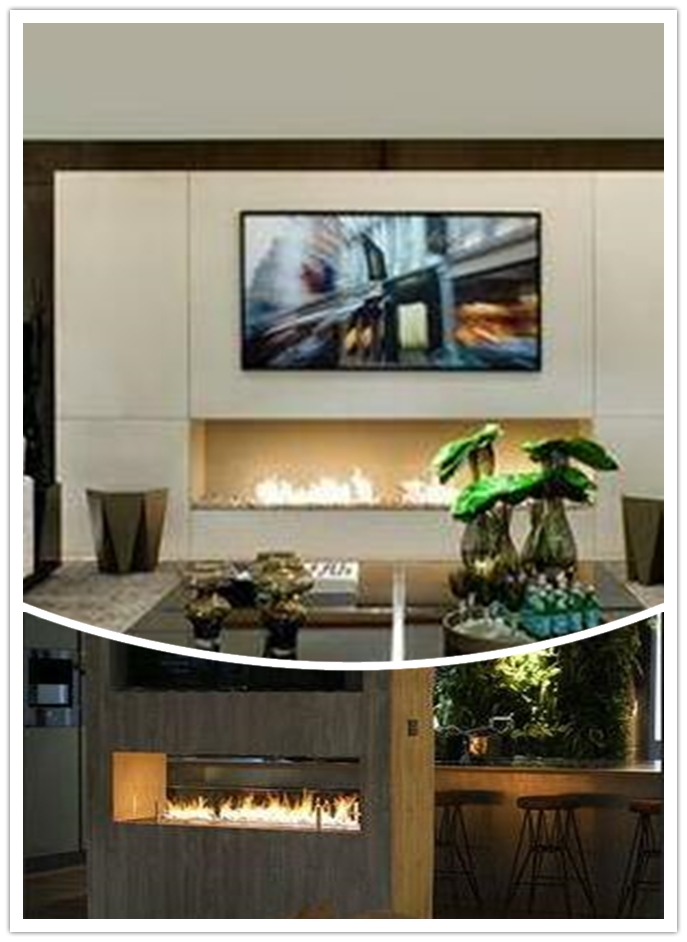 Inno Fire 48  Inch Silver Or Black Wifi Real Fire Intelligent Indoor Auto Smart Ethanol Burner