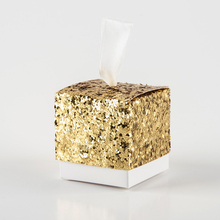 Hot!50Pcs/lot Wedding Supplies European Creative Candy Box New Gold Sequins Gift Bags Party Table DIY Decoration