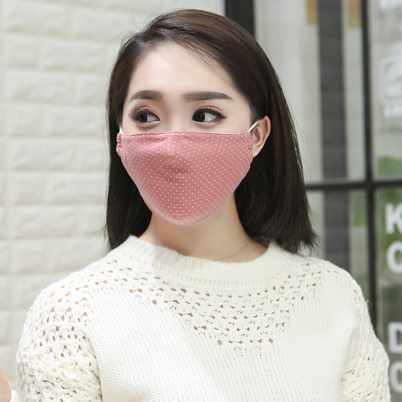 10pcs/Pack New Cotton Protective Masks Female Summer And Autumn Thin Section UV Protection Sunscreen Dust Breathable Masks