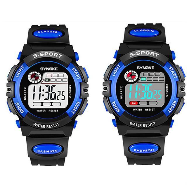 Sport Student Children Watch Boys Girls Kids Clock LED Digital Wristwatch Waterp