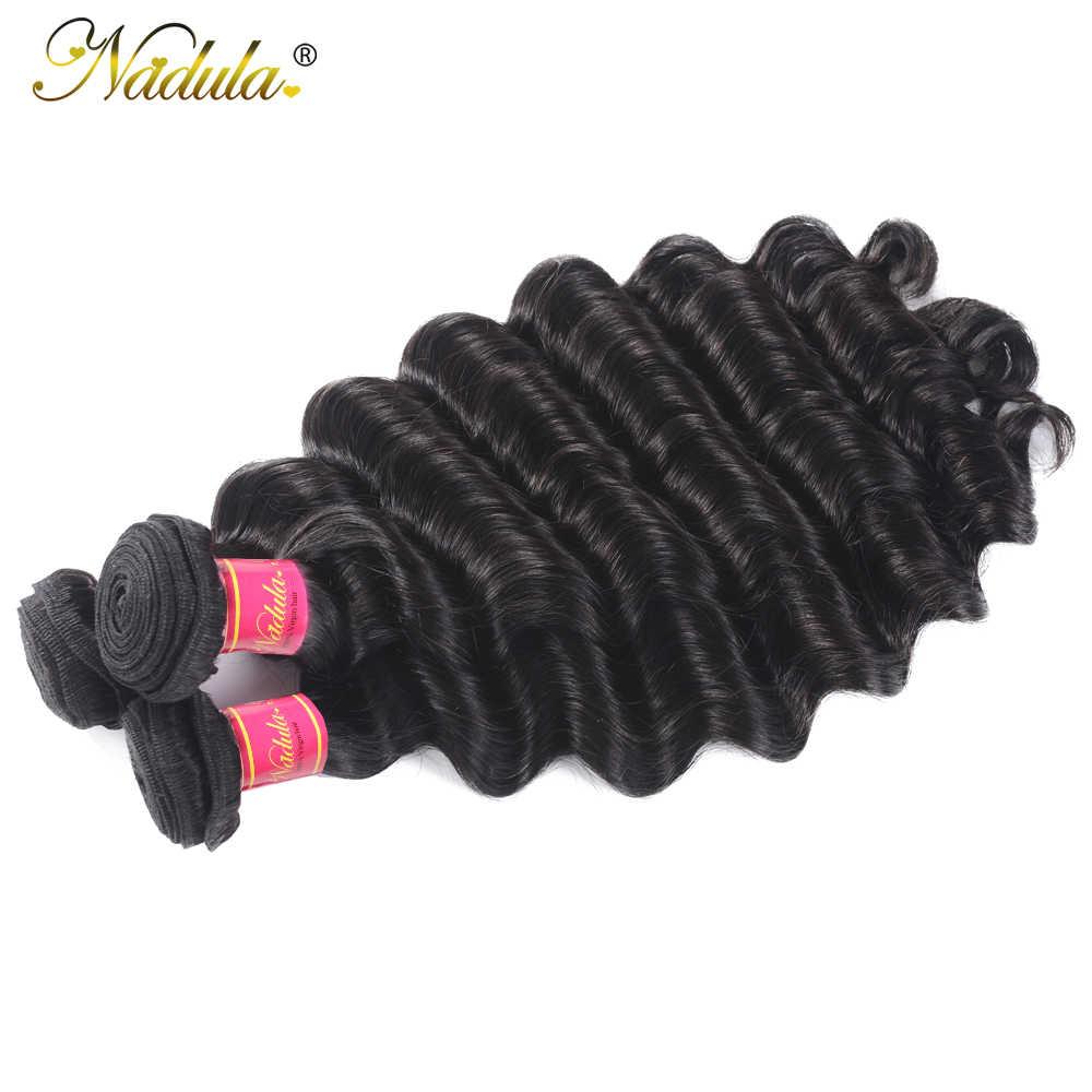 Nadula Haar Lose Tiefe Welle Bundles 12-26 zoll Brasilianische Haarwebart Bundles 100% Menschliches Haar 1/3/4 Bundles Remy haar Natürliche Farbe