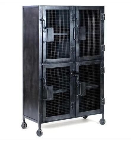 Old Wrought Iron Lockers