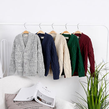 Childrens sweater boy spring and autumn new big childrens clothing cotton cardigan coat