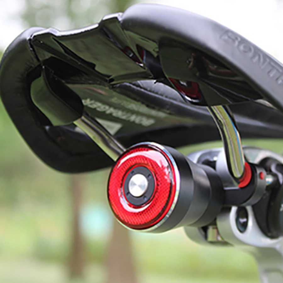 Bike Smart Tail Light Q5 Bicycle Brake Sensing Flashlight Cycling Auto Start / Stop Rear Light USB Charge IP56 LED Cycling Light