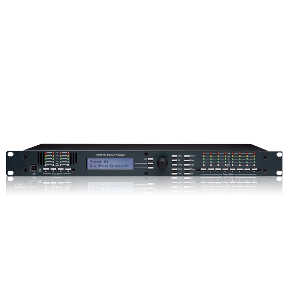 4 8SP DSP480 professional audio processor effects 4 in 8 out processing