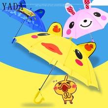 Tools Whistle-Umbrella Long-Handle 3d-Animal Sun-Rainy Rainproof Cartoon Child Boy Girl