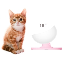 Adjustable Pet Cat Bowl Feeders Multi-Angles Cat Snacks bowl with Anti-slide Rubber Foot Mat