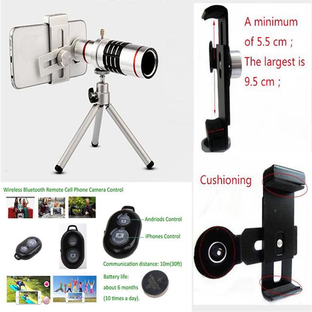 18x de Zoom Lente del Telescopio Del Teléfono de la cámara de Disparo A Distancia Universal Mini para iphone 5s 7 samsung s7 s7 edge s8 s8 borde xiaomi huawei
