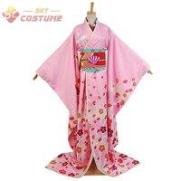 Puella Magi Madoka Magica Mami Madoka Maiko кимоно юката Униформа на Хэллоуин косплей костюмы для взрослых женщин индивидуальный заказ