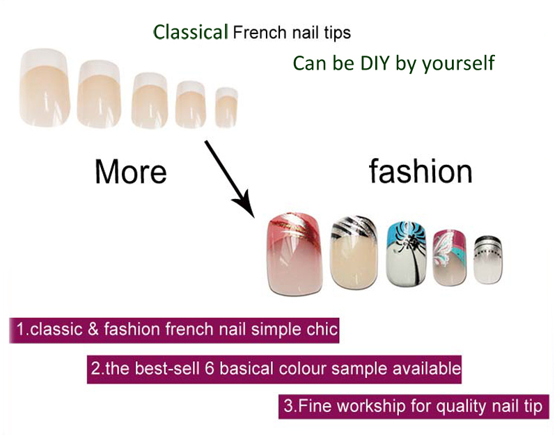 Aliexpress 2017 Brand New False Nail Tips Abs Full Cover Short Fake Nails Clical French Art Diy 16 Sets Manicure Tools From