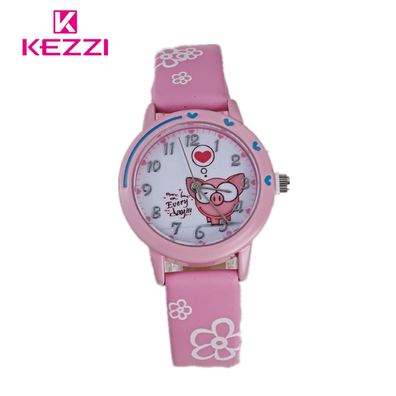 KEZZI Brands Watches for Girls Cute Casual Children Boys Colorful Sweet Quartz Wristwatch Popular Cartoon Kids Watch 2018 reloj