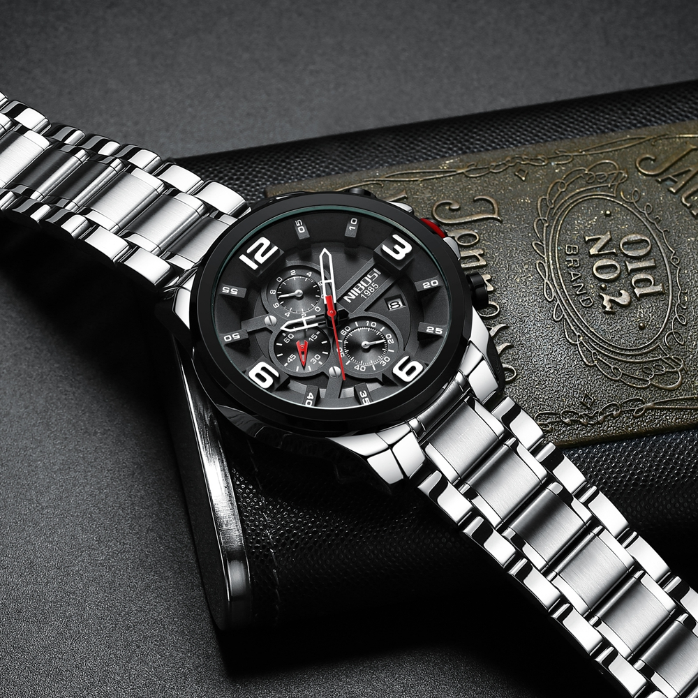 Big Dial Stainless Steel Sport Watch