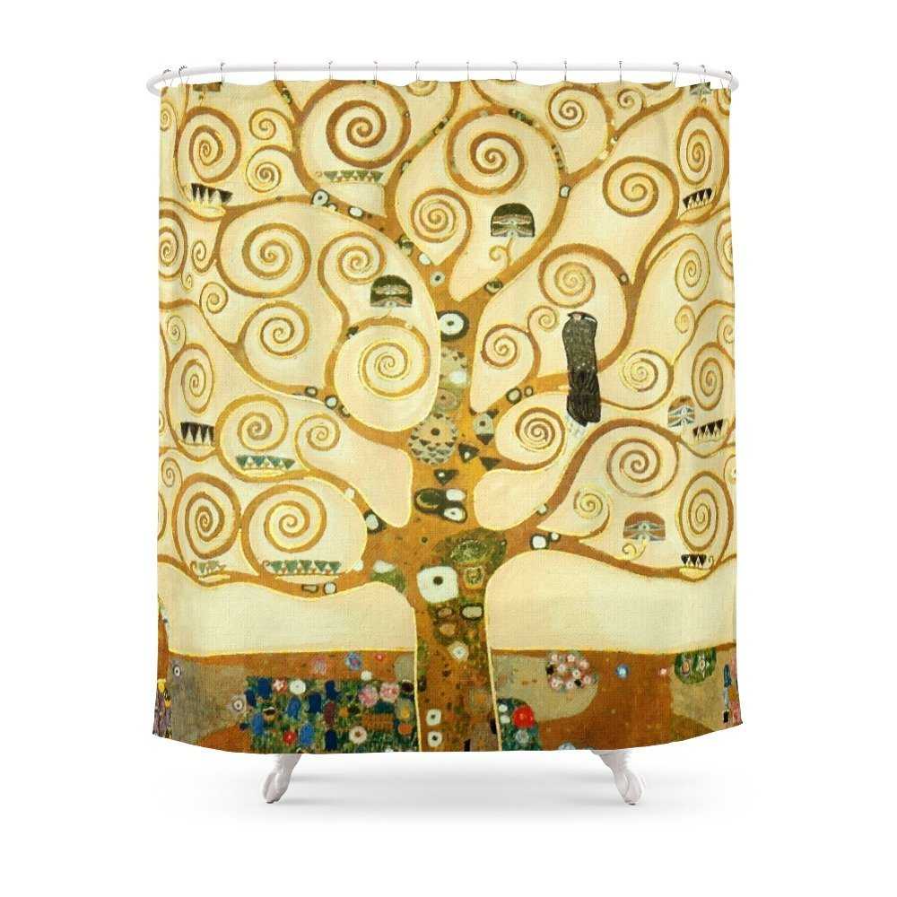 Gustav Klimt The Tree Of Life Shower Curtain In Curtains From Home Garden On Aliexpress