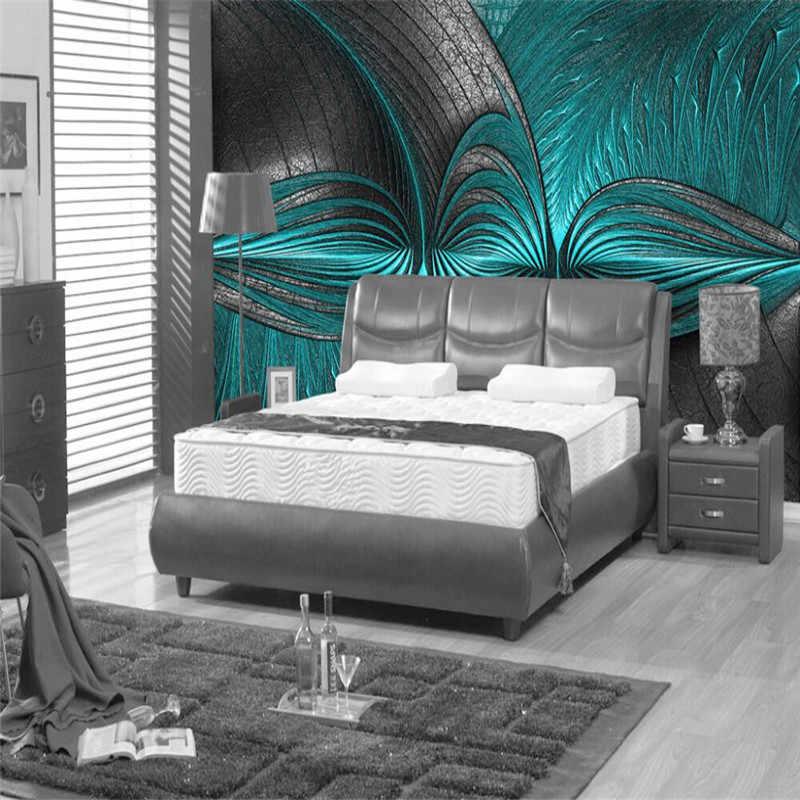 Креативный бирюзовый фон для гостиной, спальни, стены, профессиональное производство, оптовая продажа, обои на заказ, фотообои