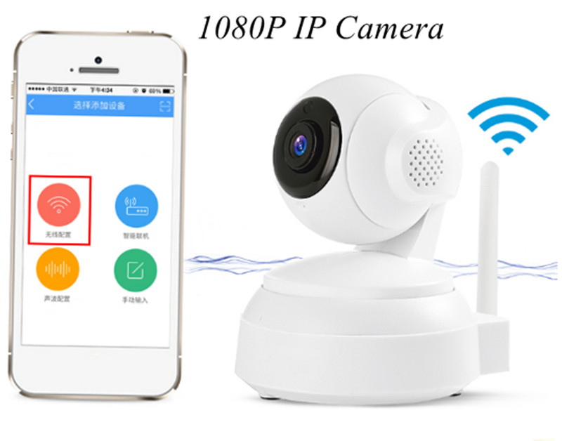 1080P Wireless Intercom WIFI IP Camera Motion Detection