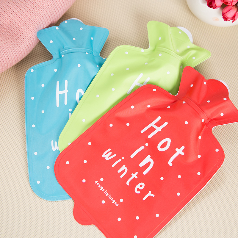 4pc Fruit Hand Warm Baby Water Injection Hot Water Bag Warm Water Bottle Non - Rubber Explosion - Proof Warm Palace 18 X 11.5cm warm plush detachable wash safety explosion proof hot water bottle plush turtle clown fish nemo