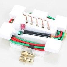Паяльный режущий фонарь, мини сварочный инструмент, маленький газовый фонарь, ювелирные изделия, 1 комплект с 5 наконечниками, коннетор с кислородом, Бутан