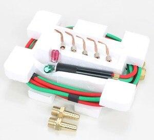 Паяльный режущий мини-инструмент, сварочный инструмент, газовый фонарик, инструменты для ювелирных изделий, 1 набор с 5 наконечниками, с кисл...