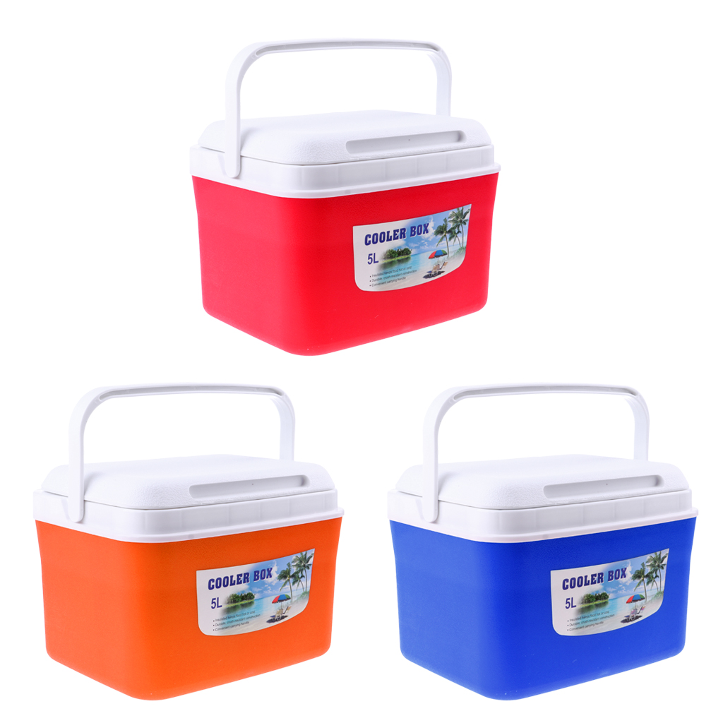 Lightweight 5/13L Drinks Food Cooler Box Ice Bucket with Handle for Camping Travel Fishing BBQ(China)
