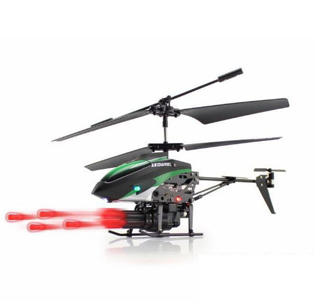 Atirador de Wltoys V398 Missile Lançamento 3.5CH RC Helicóptero Rc Helicóptero com Giroscópio Hobees