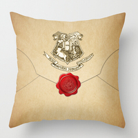 Free Shipping HARRY POTTER ENVELOPE Two Sides Custom Pillow Cases Cushion Cover For 12x12 14x14 16x16