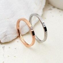 b92da968bb98 Novedad anillos de compromiso baratos disponibles de 4 a 10 de tamaño  Popular de anillo de zirconia cúbica de acero de titanio p.