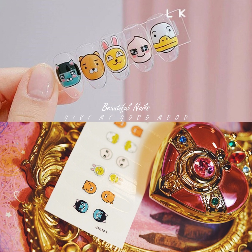 2 sets/pack High quality korean kakao friends pattern nail stickers ...