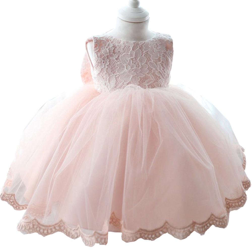 6 colors princess infant baby girls dress children clothing kids clothes newborn baby Baptism dress 1 year baby birthday dresses