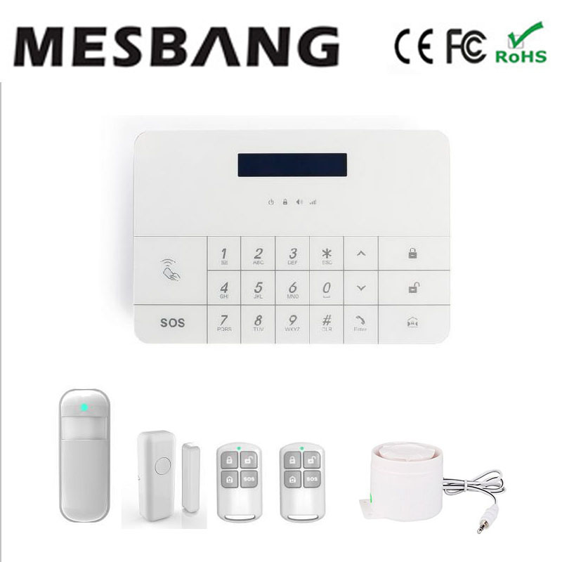 hot screen touch wireless GSM home security burglar alarm system with mobile app control free shipping
