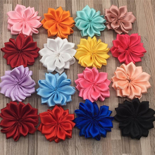 50pcs Fabric Rose Flowers Head Clips Women Girls Headband Hair Accessories DIY Supply Diameter 4cm
