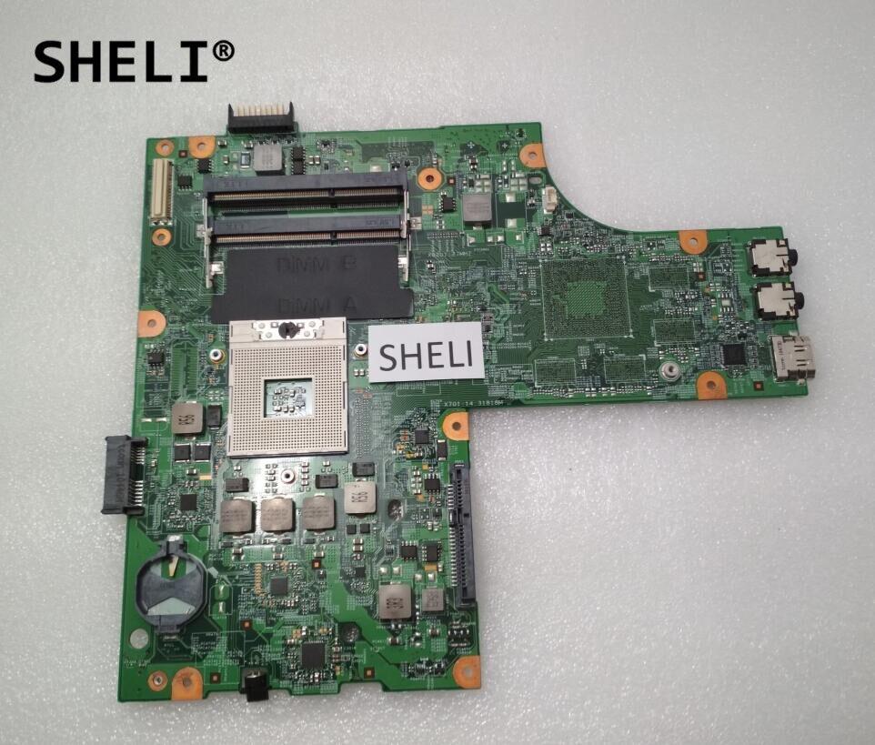SHELI For Dell N5010 Motherboard 48.4HH01.011 CN-0Y6Y56 0Y6Y56 Y6Y56 nokotion cn 0y6y56 0y6y56 for dell inspiron n5010 laptop motherboard hm57 ddr3 socket pga989 48 4hh01 011