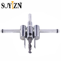 SUYIZN התאם עץ מעגל חור מסור קאטר כלי ערכת סט 30 מ