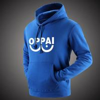2016 Anime One Punch Man Hero Saitama Oppai Hoodies Halloween Cosplay Costume Hoodie Jacket Sweatshirts Men Women Plus Size 2