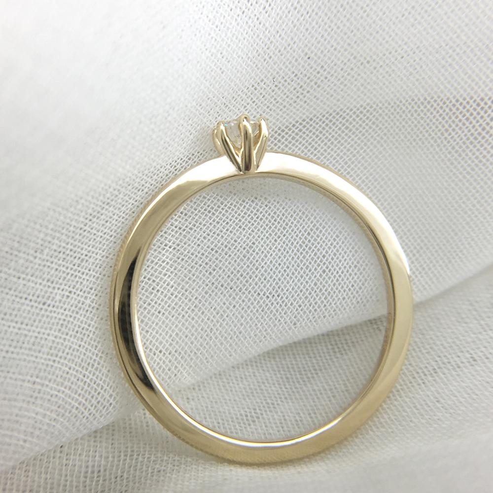 AEAW DF Moissanite Diamond 3mm Engagement Solarite  Ring for Women in 14K Yellow Gold