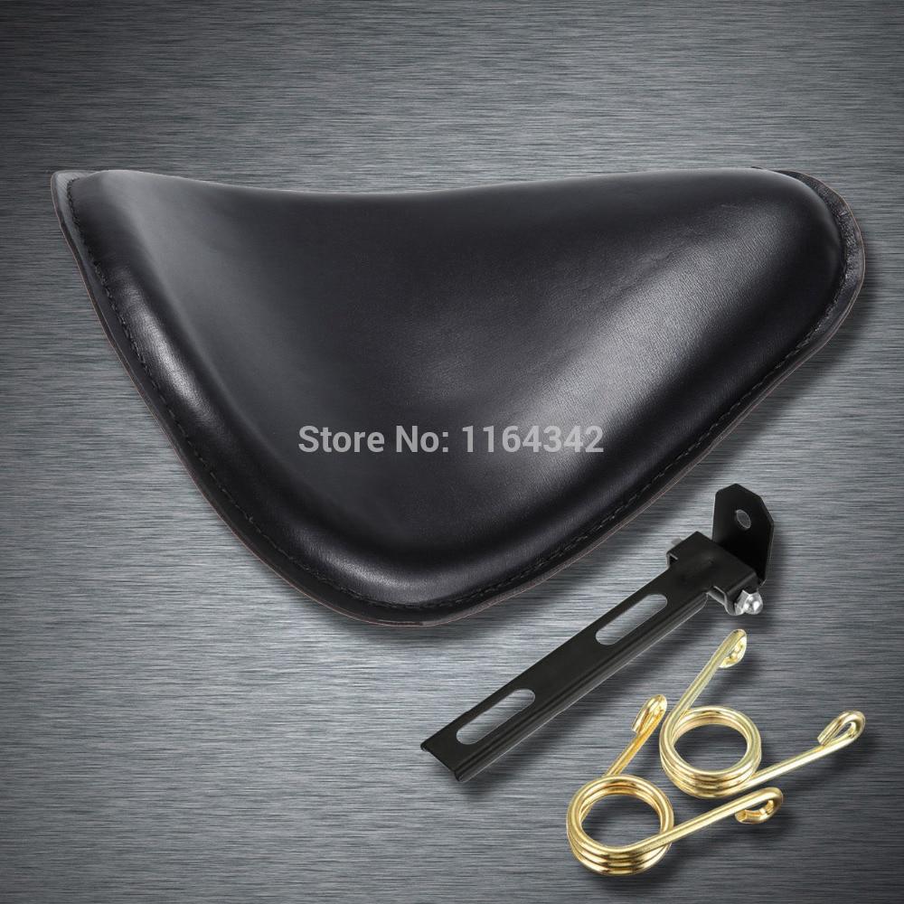Leather&Steel Bracket Solo Seat for Harley Honda Yamaha Sportster Bobber Free Shipping