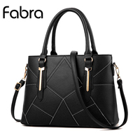 Fabra New Women PU Leather Plaid Messenger Bags Casual Women Crossbody Shoulder Shell Bag Ladies Quality