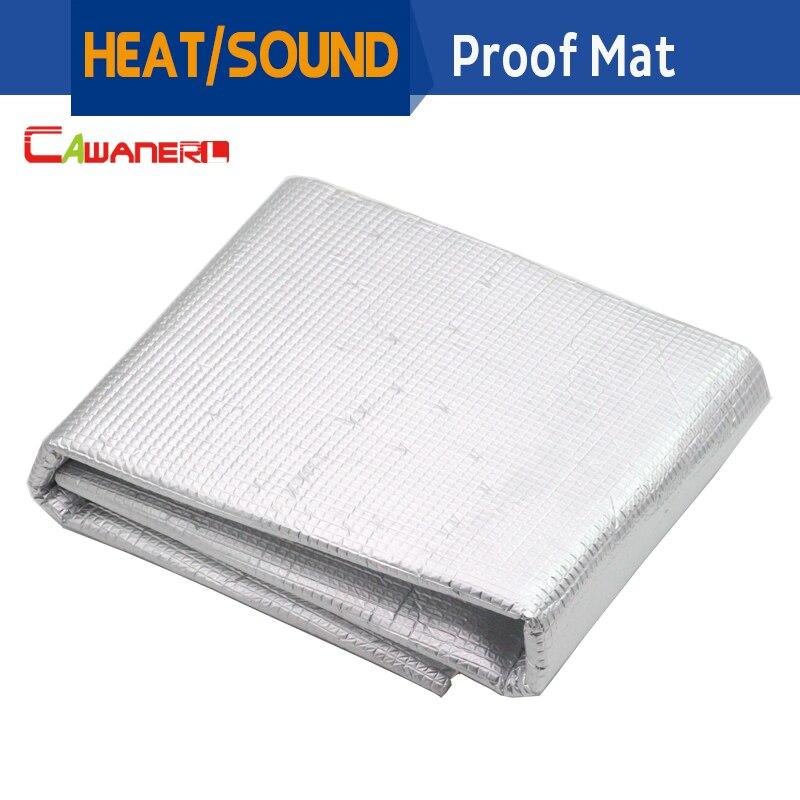 Cawanerl 1Pcs 30cm x100cm Car Engine Trunk Aluminum Foil Sound Heat Insulation Noise Control Deadening Deadener Cotton Mat
