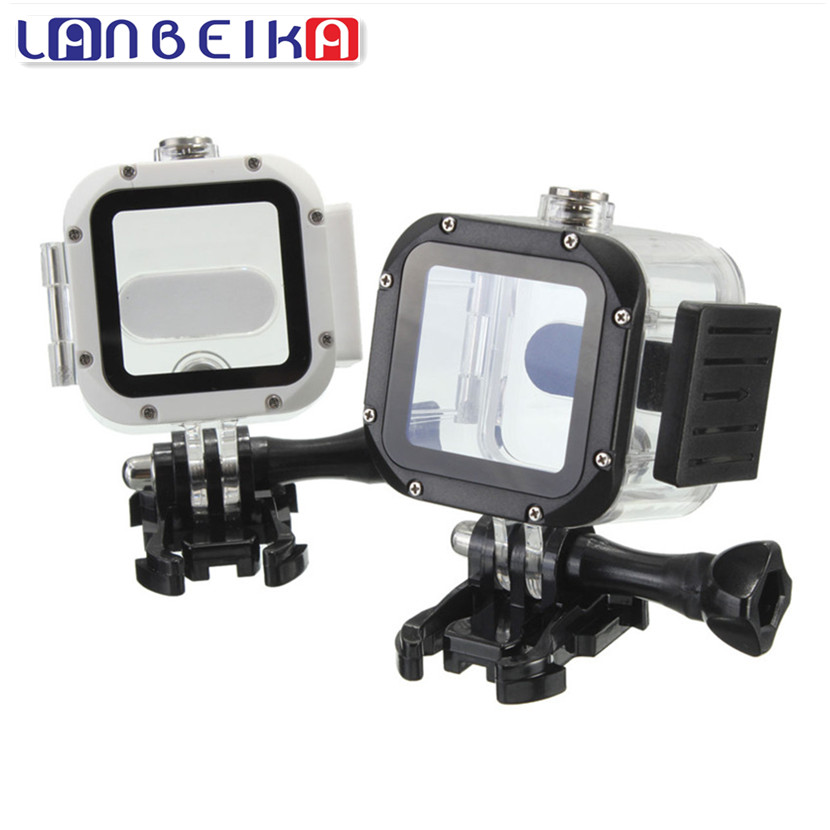 LANBEIKA For Gopro Hero 5s 4s Waterproof Protective Case 60M Diving Housing Box for Gopro Hero 5 4 Session Gopro Accessories cute grasshopper protective silicone back case w suction cup antennas for iphone 4 4s green