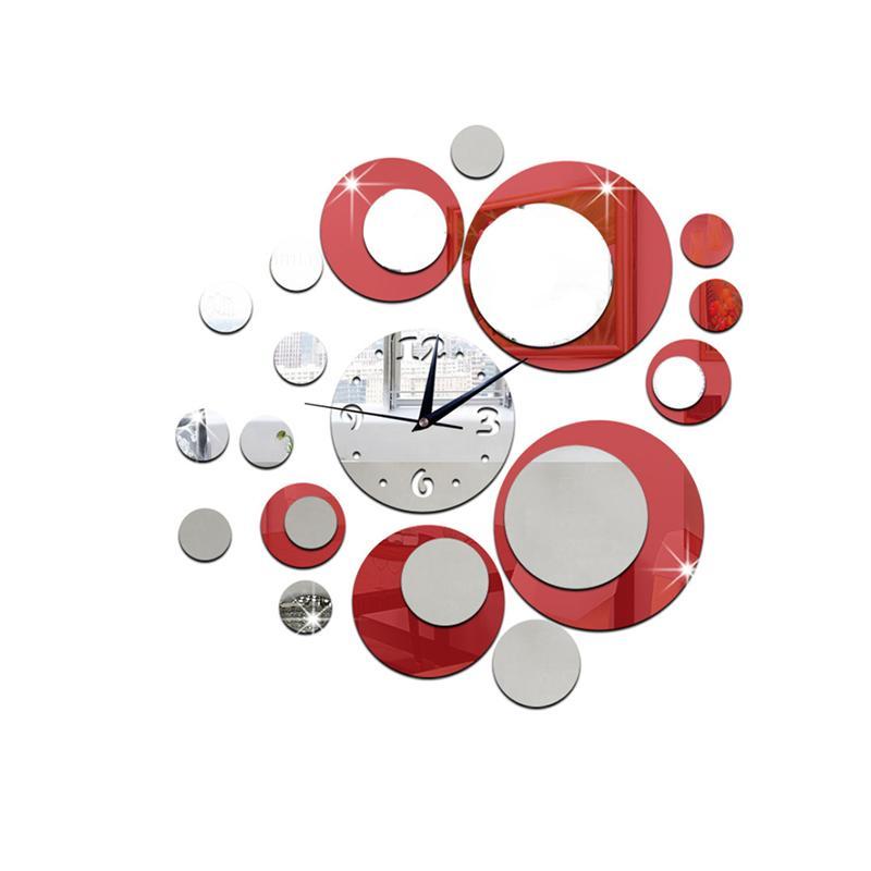 DIY 3D Acrylic Wall Clock Mirror Stickers For Home Living Room Office Decor  Wall Clocks Home Decor