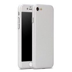 새로운 전면 다시 전신 보호 케이스 coque 아이폰 7 8 플러스 iPhone7 360 케이스 충격 방지 fundas capinhas + 강화 유리